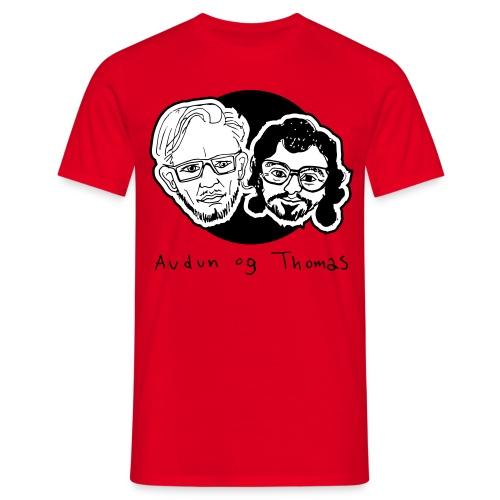 Audun og Thomas - T-skjorte for menn
