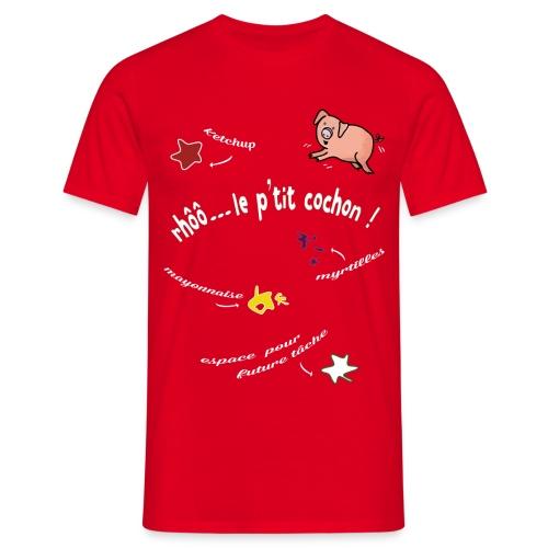 Rhoo le ptit cochon ! (version pour fond sombre) - T-shirt Homme