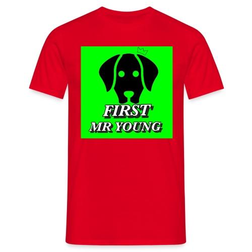 FIRST MR YOUNG CAP I RØD - Herre-T-shirt