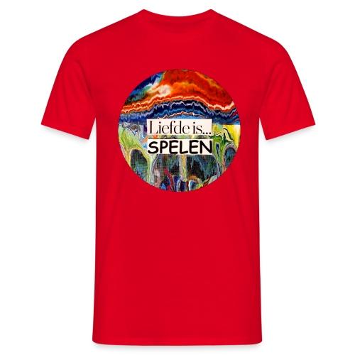 Liefde is spelen - Mannen T-shirt