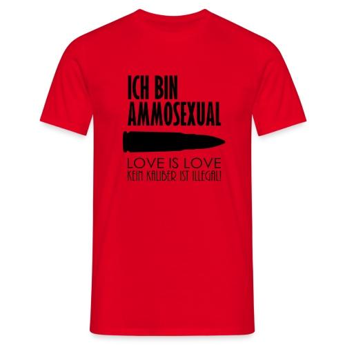 Ammosexual (schwarz) - Männer T-Shirt
