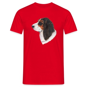 bassethound color - Herre-T-shirt