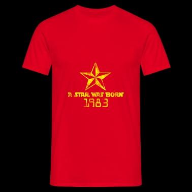 En stjärna var född 1983 - T-shirt herr