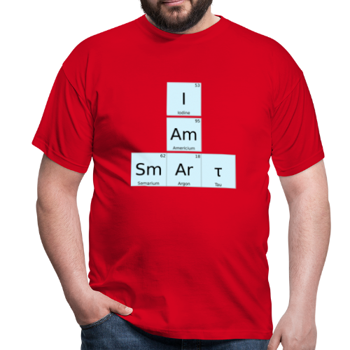 I Am Smart Periodic Table Design - Men's T-Shirt
