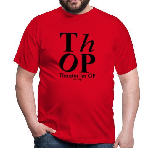Grosses Logo SCHWARZ - Männer T-Shirt