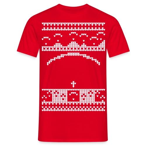 Paragliding Christmas Jumper - Men's T-Shirt