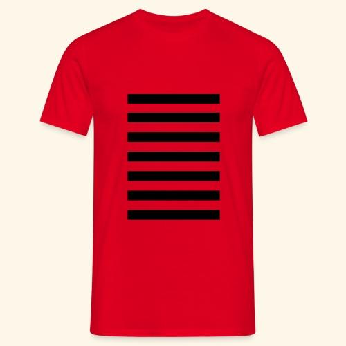 White Lands Streifen Muster - Männer T-Shirt
