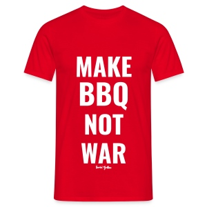Make BBQ not war! - Mannen T-shirt