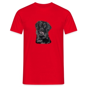 flatcoated retriever p - Herre-T-shirt