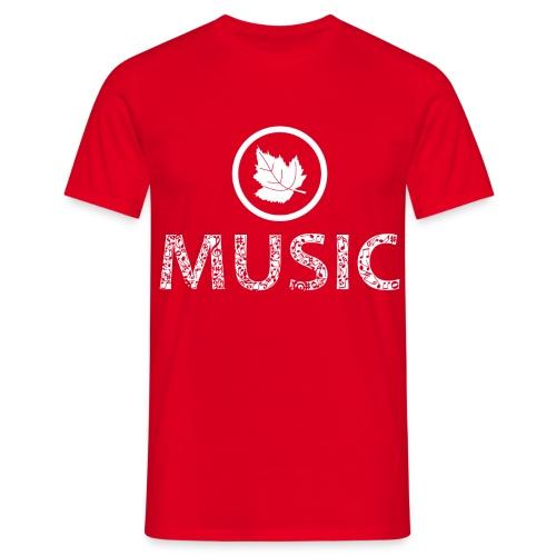 logo bashk music e bardhe - Men's T-Shirt