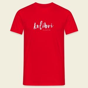 Logo Kolibri Design weiss - Männer T-Shirt