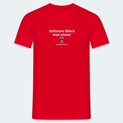 Software libero mon amour - Maglietta da uomo