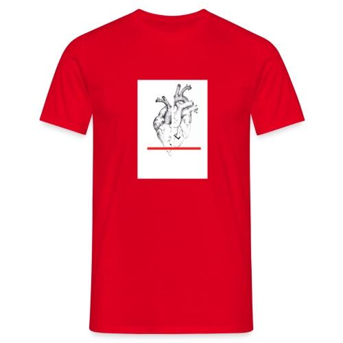 Le coeur flou et sa barre - T-shirt Homme