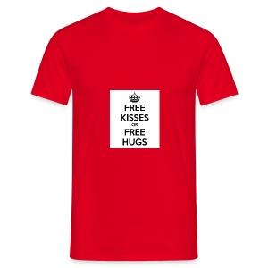 free kisses or free hugs - Mannen T-shirt
