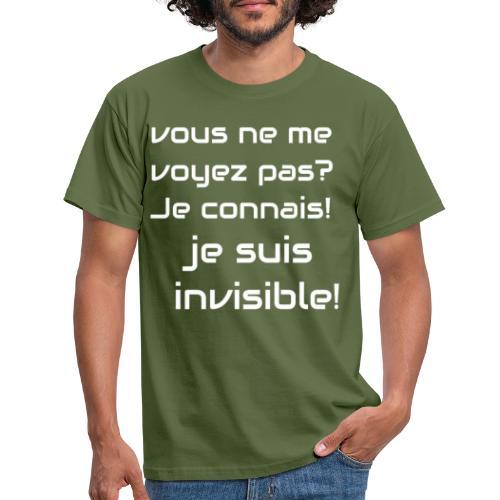 Invisibile #invisibile - Maglietta da uomo