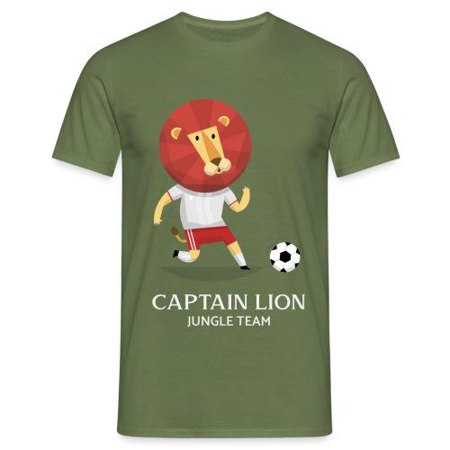 Captain Lion | Fútbol Leones | Humor - Camiseta hombre