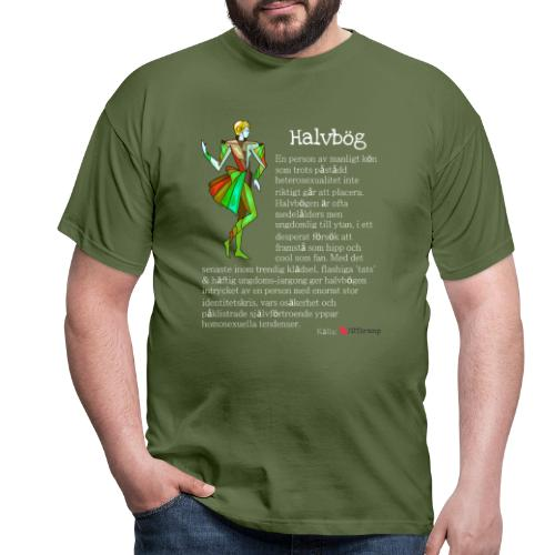 Halvbög - T-shirt herr
