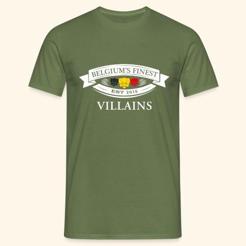 BelgiumFinestEst2015Villains wit - Men's T-Shirt