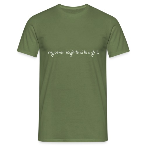 my other boyfriend is a girl - Herre-T-shirt