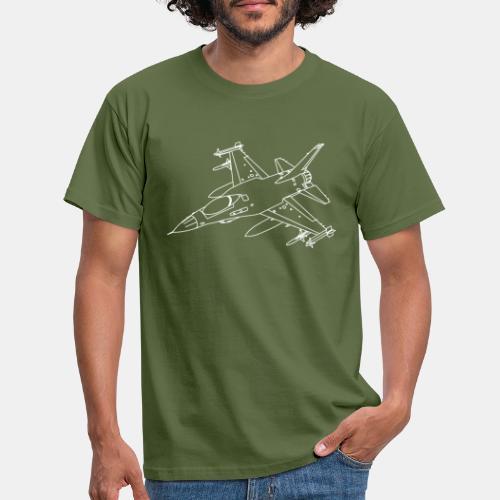 F-16 Viper / Fighting Falcon jet fighter / F16 - Men's T-Shirt