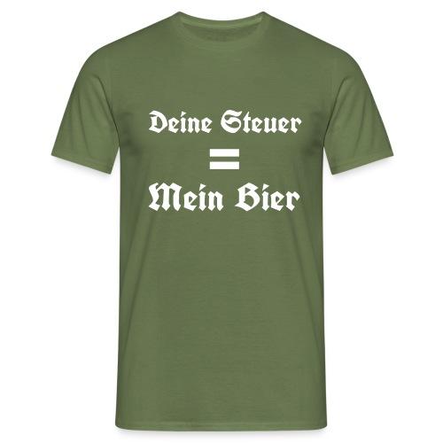 Deine Steuer ist mein Bier3 - Männer T-Shirt