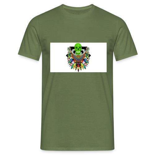 Colorfull skull - Miesten t-paita