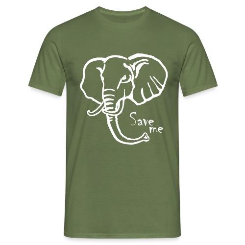 Afrika-Elefant I Save me - Männer T-Shirt
