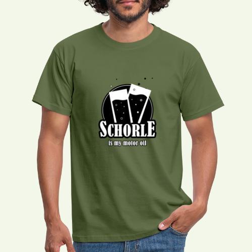 Schorle is my motor oil (Stangenglas) - Männer T-Shirt