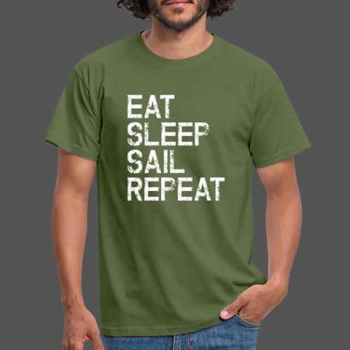 Segel T Shirt Eat Sleep Sail repeat grunge look - Männer T-Shirt