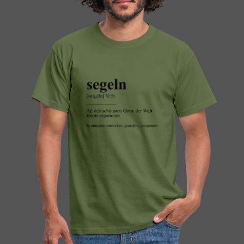 segeln Definition Tshirt Boot reparieren - Männer T-Shirt