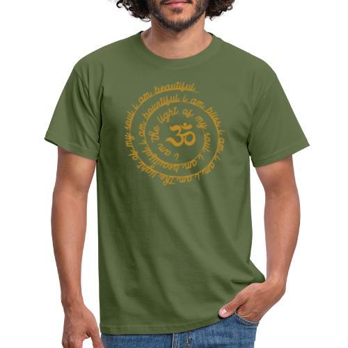 Yoga Mantra Fashion I am the light of my soul - Männer T-Shirt