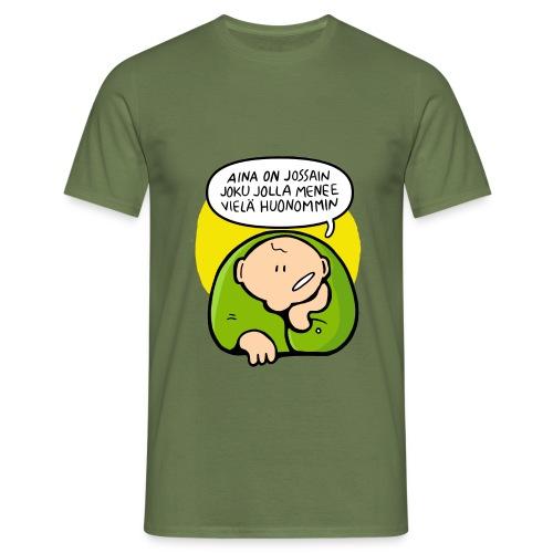 optimisti - Miesten t-paita