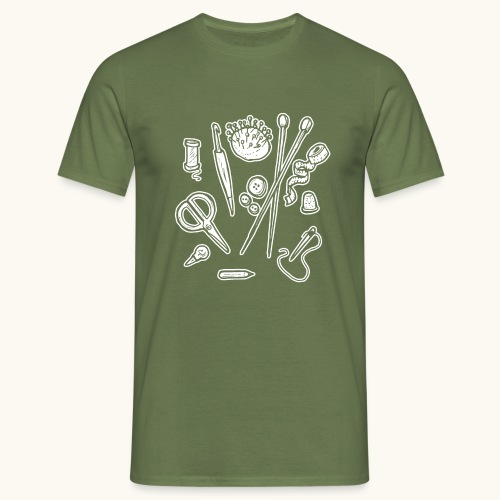 Handarbeiten lustiges Hobby Werkzeuge Geschenk - T-shirt Homme