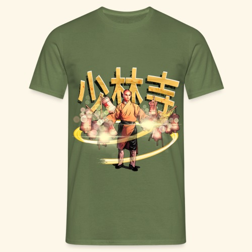 Gordon Liu som San Te - Warrior Monk - Herre-T-shirt