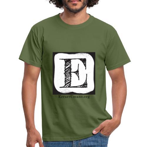 Logo ErrareUmano (scritta nera) - Maglietta da uomo