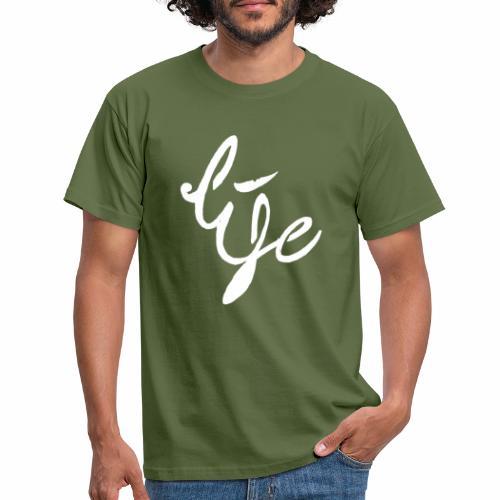 Life Logo simple white - T-shirt Homme