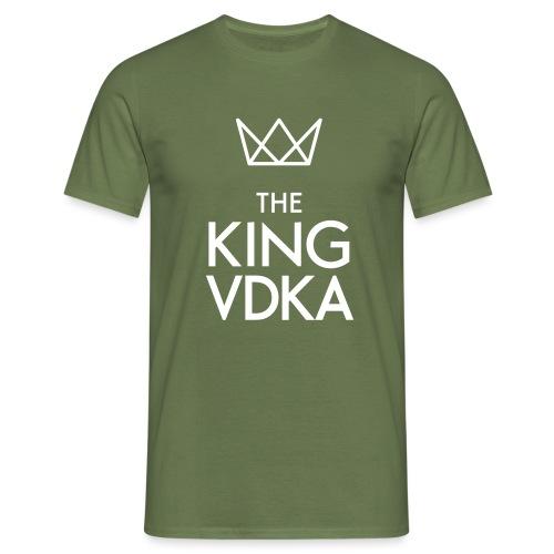 The King VDKA Logo weiss - Männer T-Shirt