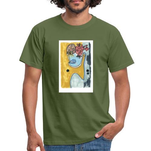 Corazo y cerebro - Camiseta hombre