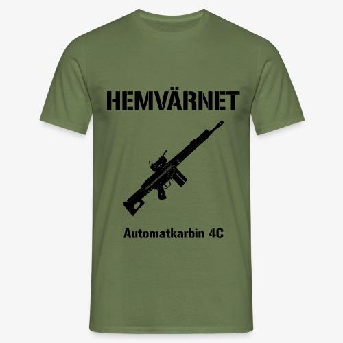 Hemvärnet - Automatkarbin 4C + SWE Flagga - T-shirt herr