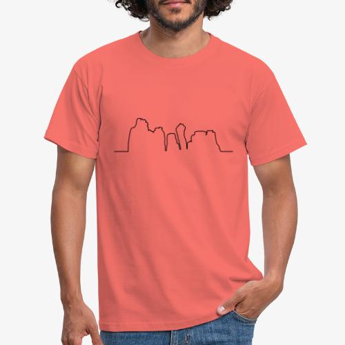 Kontur der Externsteine - Männer T-Shirt