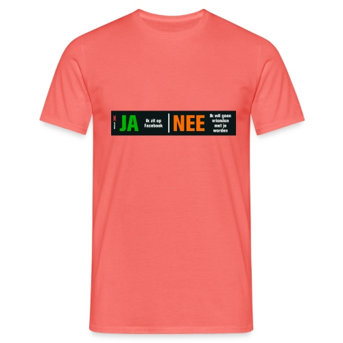 facebookvrienden - Mannen T-shirt