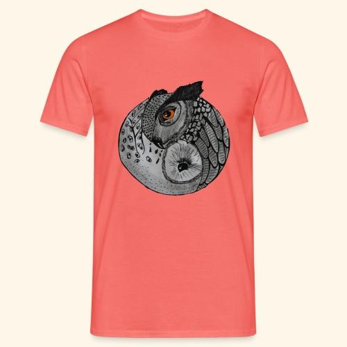 Chouette ying-yang - T-shirt Homme
