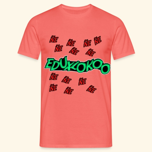 logo de eduxlokoo ñe - Camiseta hombre