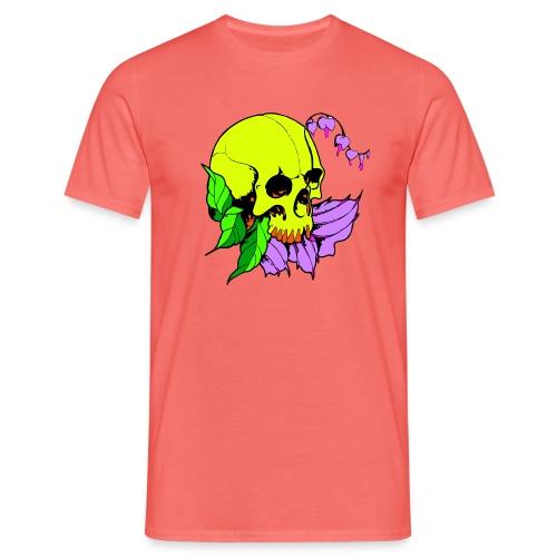 Skalle och blomma - T-shirt herr