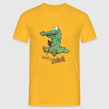 Vorsicht Schokodil - Männer T-Shirt