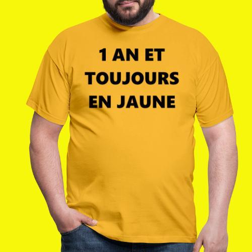1 an gilet jaune - T-shirt Homme