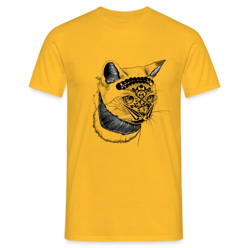 cat katze hanna art - Männer T-Shirt