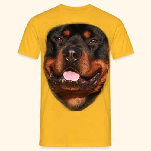 rotweiller face - Men's T-Shirt