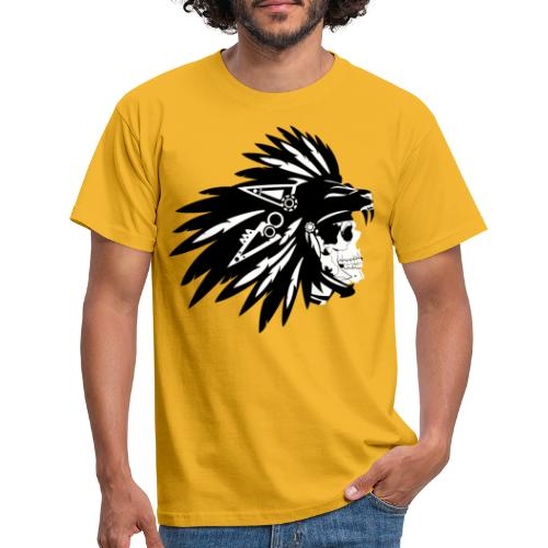 Indianer Totenkopf - Männer T-Shirt