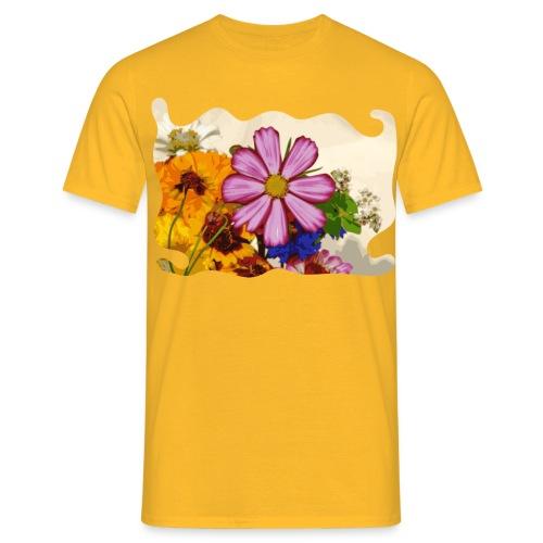 Pink flower - Mannen T-shirt
